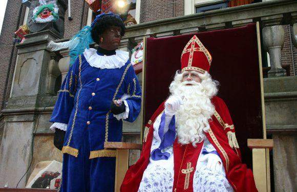 Demonstratie tegen Sint Piter